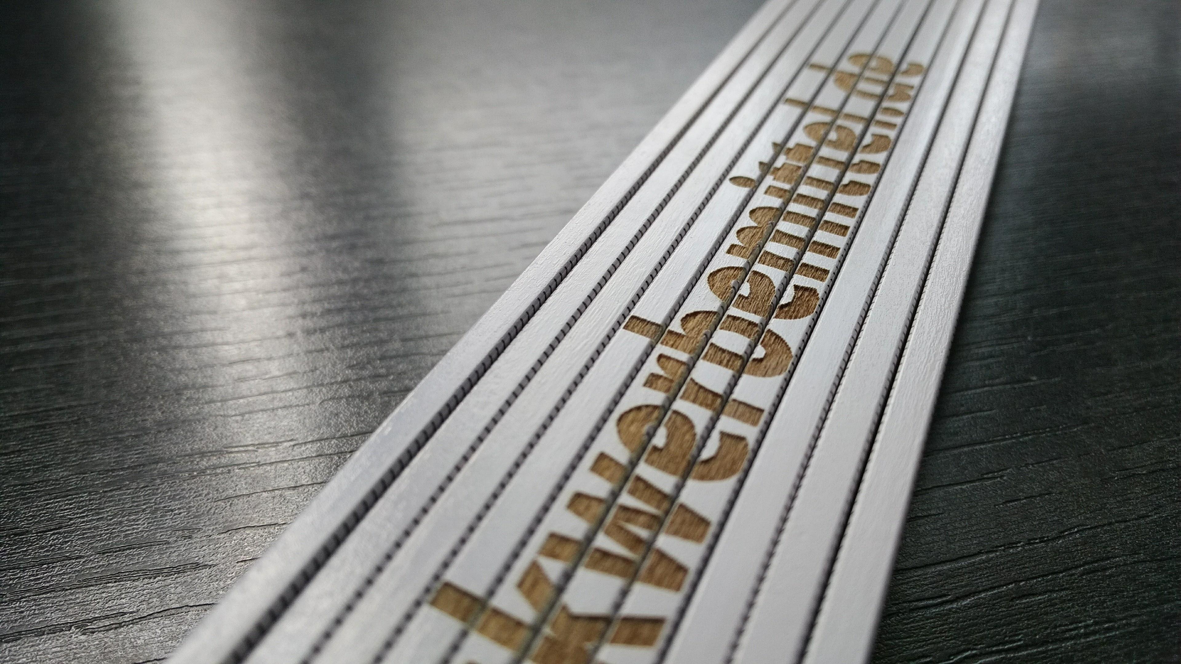 Zollstock mit Lasergravur