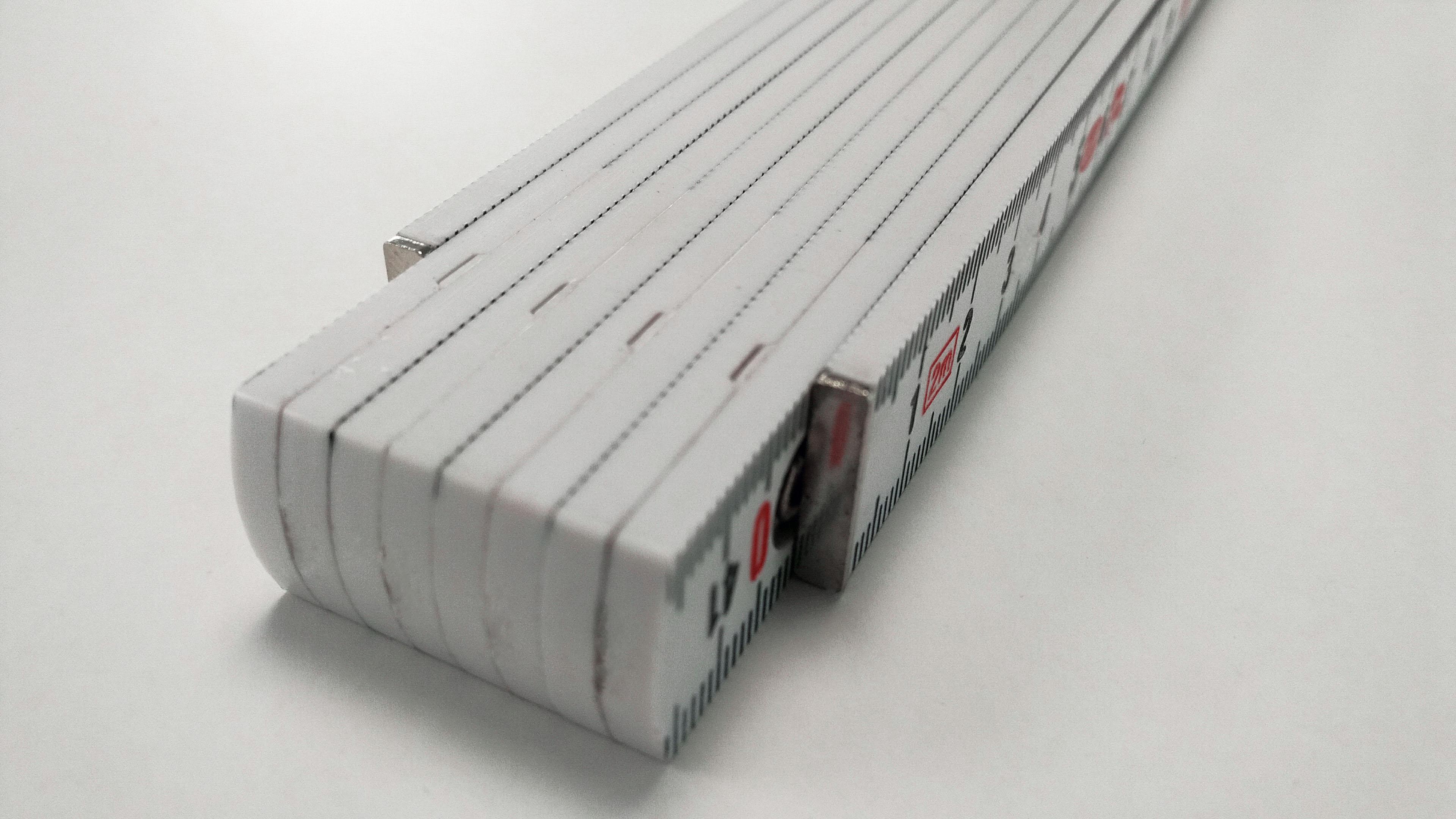 Kunststoff Zollstock mit Metallenden