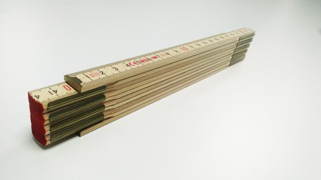 Premium-Zollstock aussenliegende Metallgelenke